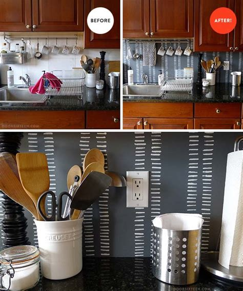 cheap diy kitchen backsplash ideas 15 inexpensive diy kitchen backsplash ideas and tutorials 8142