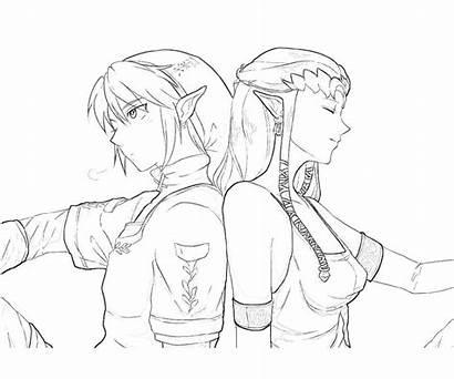 Zelda Ausmalbilder Coloring Princess Malvorlagen Legend Twilight