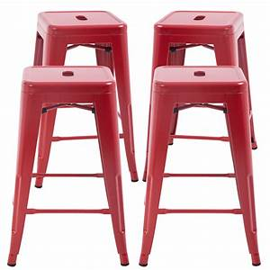 Counter, Height, Bar, Stools, Set, Of, 4, Metal, Bar, Stools, 24, Inches, Kitchen, Counter, Stool, Industrial