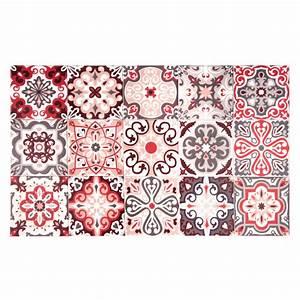 Tapis En Vinyle : tapis en vinyle motifs carreaux de ciment 50x80 maisons du monde ~ Teatrodelosmanantiales.com Idées de Décoration