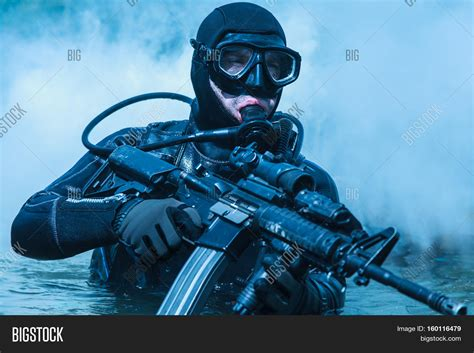 Navy Seal Dive by Navy Seal Frogman Complete Diving Image Photo Bigstock