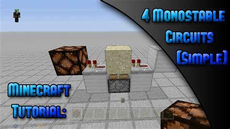 Minecraft Xbox Tutorial Monostable Circuits Simple