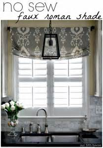 25 best ideas about faux shades on no kitchen curtains and kitchen
