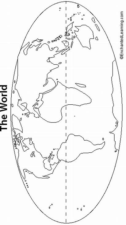 Outline Map Continents Geography Enchantedlearning Printable Outlinemap