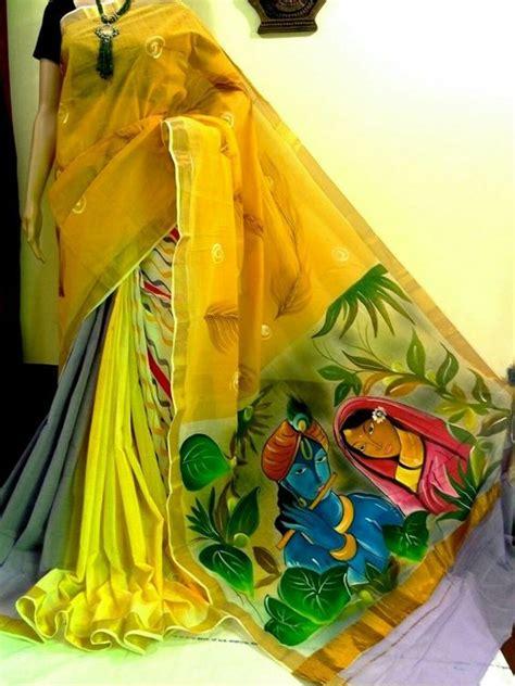 kerala mural painted saree simple craft ideas