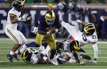 Dame Notre Michigan Football Beats Rivalry Rally