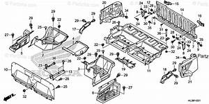 Honda Side By Side 2019 Oem Parts Diagram For Bed Plate