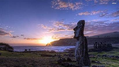 Easter Island Wallpapers Sunset Islands Cave