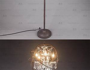 Special offer lampe sur pied lampadaire moderne led iron for Retro globe floor lamp