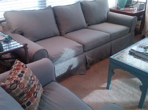 Pottery Barn Basic Grand Sofa Slipcover by Twill Slipcovers For Sofas Separate Seat T Arm Cushion