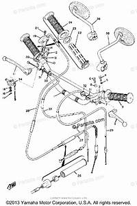 Yamaha Motorcycle 1971 Oem Parts Diagram For Handle