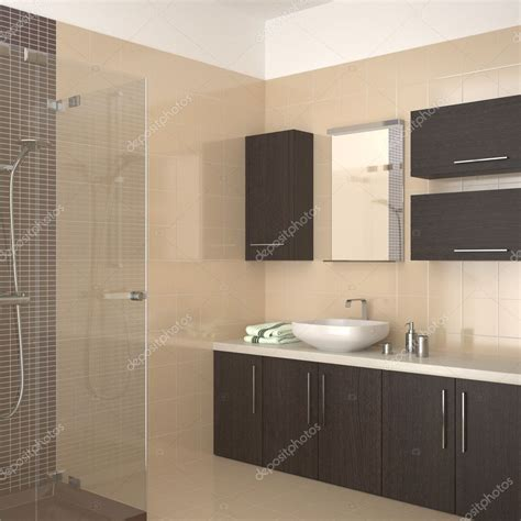 Badezimmer Modern Beige by Modern Beige Bathroom Stock Photo 169 Anhoog 5779198