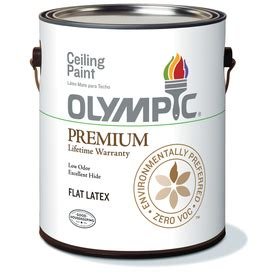 shop olympic ceiling white soft gloss latex interior paint
