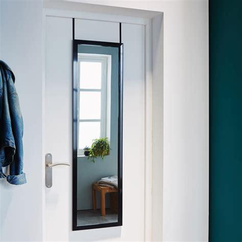 miroir de porte a suspendre miroir de porte 224 suspendre coloris noir 30x120 cm leroy merlin