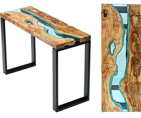 beautiful wooden tables  glass rivers  lakes