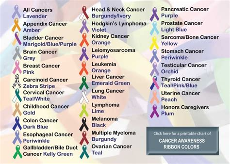 what color is cancer ribbons of colors cancer awareness ribbon colors
