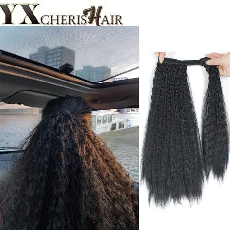 Buy African American Clip In Ponytail Black Hair Braids