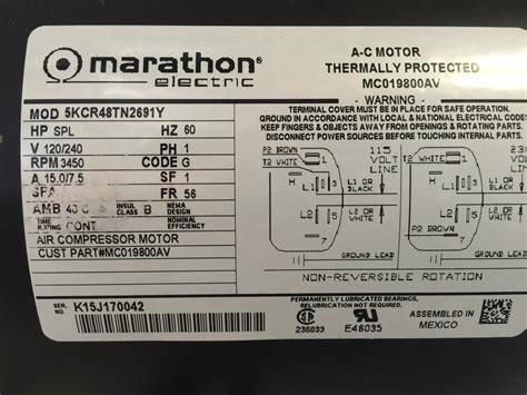 Kcrtny Marathon Air Compressor Motor