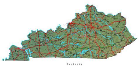 kentucky map  maps  kentucky state