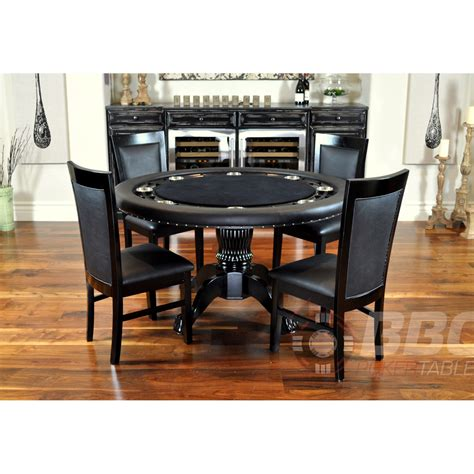 round poker table with dining bbo poker tables nighthawk round card table 4 matching
