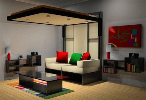 canape loft taupe lit escamotable plafond pour plus d espace en 19 idées top