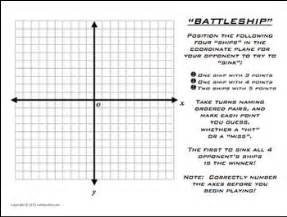 Battleship Plotting Points Coordinate Plane Math Competition Game By Mathycathy