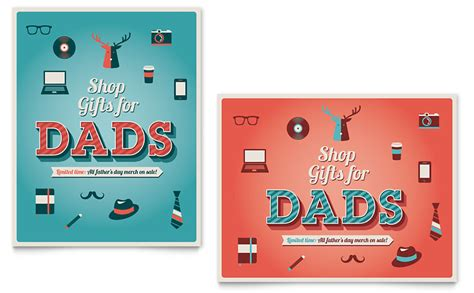 fathers day sale poster template word publisher