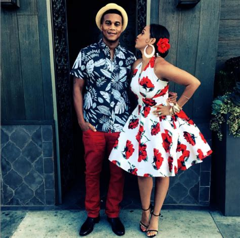 Cute couple Corey Hardrict and Tia Mowry Hardrict attended a Havana Nights theme event ...