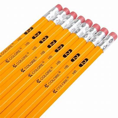 144 un sharpened #2 Yellow Pencils With Eraser Tops - HB
