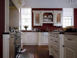 White cabinets and moldings contrast perfectly with for Kitchen colors with white cabinets with country canvas wall art
