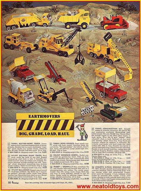 vintage  penney christmas catalog tonka toys truck
