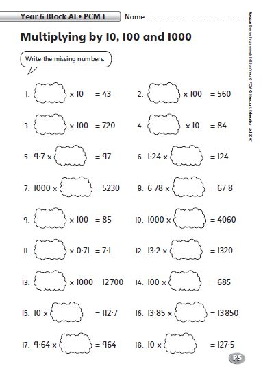 common worksheets multiply decimals by 10 and 100 worksheet preschool and kindergarten - Multiply Decimals By 10 And 100 Worksheet
