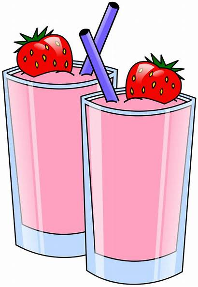 Drinks Clipart Strawberry Straws Smoothie Soda Beverages