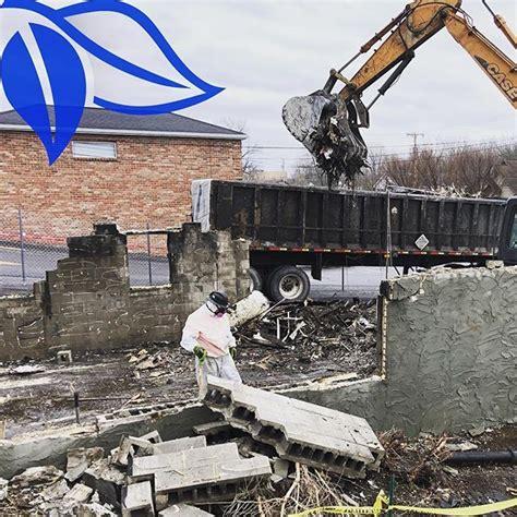 controlled asbestos fire damaged demolition roc