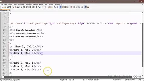 xhtml css tutorial  border color background color  background image  table cevad
