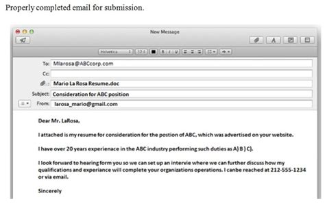 How To Send Resume Via Email by How To Send Your Resume Through Email Vvengelbert Nl