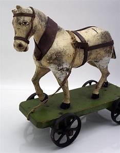 Tv Wagen Auf Rollen : antikes holzspielzeug holzpferd holz pferd mit wagen auf rollen 30er jahre ebay ~ Bigdaddyawards.com Haus und Dekorationen