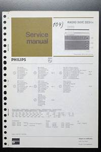 Philips Radio 50ic323 Original Service Manual  Instruction