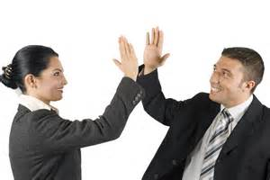 Business People High Five
