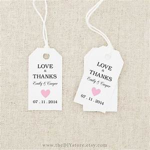 7 best images of free printable wedding tags templates With wedding favors templates free printable