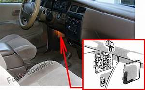 Fuse Box Diagram Toyota T100  1993