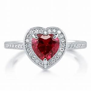 Red Heart Diamond Ring | Wedding, Promise, Diamond ...