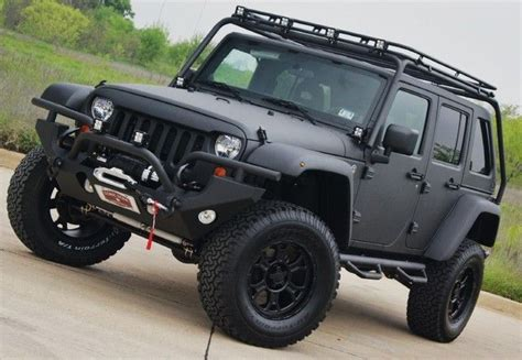 matte black jeep matte black modified jeep jeep life pinterest