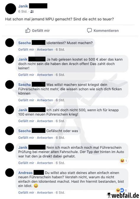 der idiotentest facebook fail des tages