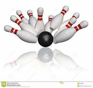 Bowling Strike - Isolated stock illustration. Illustration ...