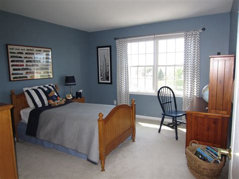 Blue Boys Bedroom Makeover With Chevron