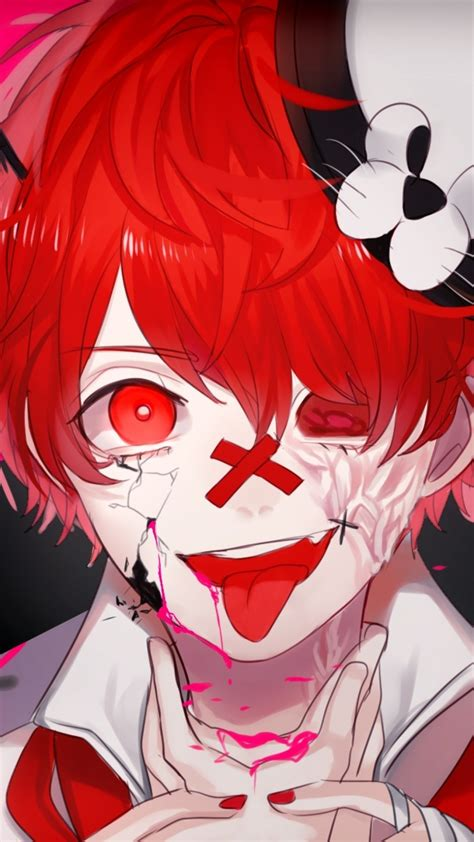 Download 1080x1920 Anime Boy Psycho Tongue Wallpapers