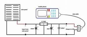 1  Circuit Diagram  Mobile Phone Connects With Solar Panel