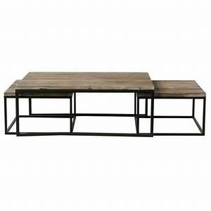 Table Gigogne Maison Du Monde : table basse en bois verre ou m tal maisons du monde ~ Teatrodelosmanantiales.com Idées de Décoration