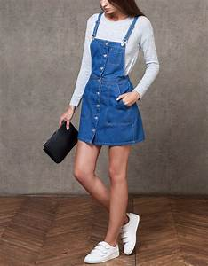 robe salopette denim total denim femme stradivarius With robe salopette femme